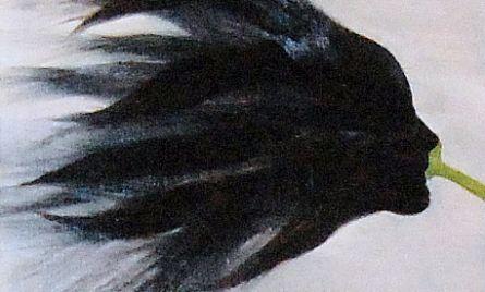 Akryyli- ja öljyväri levylle, 61×61 cm