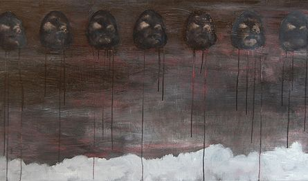 Akryyli- ja öljyväri levylle, 122×61 cm