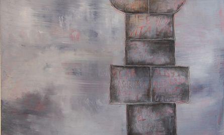 Akryyli- ja öljyväri levylle, 122×122 cm