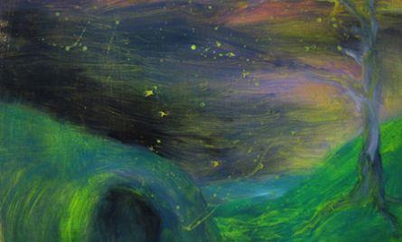 Akryyli- ja öljyväri levylle, 50 x 60 cm
