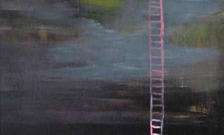 Akryyli- ja öljyväri levylle, 61 x 122 cm