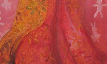 Akryyli- ja öljyväri levylle, n. 50 x 95 cm